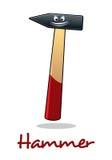 Lächelndes Hammerwerkzeug der Karikatur Stockbild