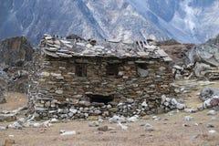 lächelndes Haus in Nepal lizenzfreie stockfotos