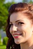 Lächelndes herrliches Mädchenporträt Stockfoto