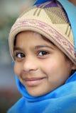 Lächelndes hinduistisches Mädchen Stockfotos