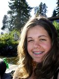Lächelndes jugendlich Mädchen Lizenzfreie Stockfotos