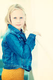 Lächelndes Jugendlichmädchen, portrat Stockfotos