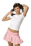 Lächelndes junges Mädchen lizenzfreie stockbilder