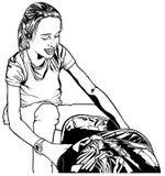 Lächelndes junges Schulemädchen Lizenzfreie Stockfotos