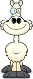 Lächelndes Karikatur-Lama Stockfoto