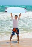 Lächelndes kitesurfer Stockbild