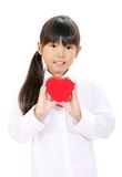 Lächelndes kleines asiatisches Mädchen lizenzfreies stockbild