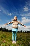 Lächelndes kleines Mädchen Lizenzfreie Stockfotografie