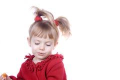 Lächelndes kleines Mädchen Lizenzfreies Stockfoto