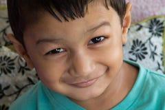 Lächelndes Kleinkind stockbilder