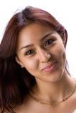 Lächelndes lateinisches Mädchen Stockfoto
