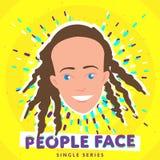 Lächelndes Leutegesicht Stockfotografie