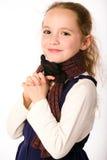 Lächelndes Mädchen im Schal stockfotografie