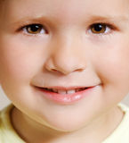 Lächelndes Mädchengesicht Stockfoto
