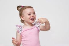Lächelndes Porträt des entzückenden Babys Lizenzfreie Stockbilder
