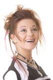 Lächelndes Punkmädchen lizenzfreies stockfoto