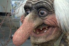 Lächelndes Schleppangel-Gesicht Stockfoto