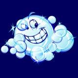 Lächelndes Seifen-Luftblasen-Karikatur-Bild Stockfoto