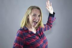 Lächelndes weibliches Rot 8 Lizenzfreies Stockfoto