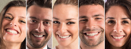 Lächelnfahne stockbilder