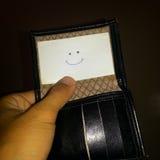 Lächelngeldbörse Lizenzfreies Stockbild
