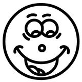 Lächelngesicht stockfoto