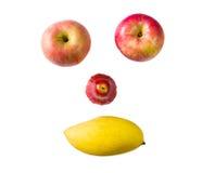 Lächelngesicht durch Früchte Lizenzfreies Stockfoto