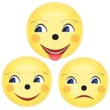 Lächelnikone Lächelnikonennetz Lächelnikone neu Lächelnikonen-APP Smil Lizenzfreies Stockbild