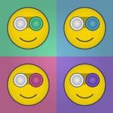 Lächelnkontaktlinsekasten Stockfoto
