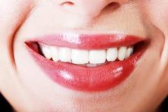 Lächelnmakro lizenzfreies stockbild