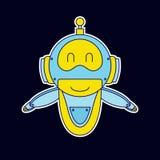 Lächelnrobotermaskottchen lizenzfreie abbildung
