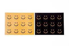 Lächelt Aufkleber Stockbilder