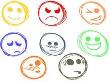 Lächelt Ausdruckskizze Lizenzfreies Stockfoto