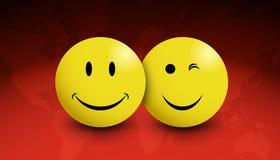 Lächelt rote Welt Stockfotografie