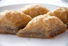 Läcker baklava med valnötter Fotografering för Bildbyråer