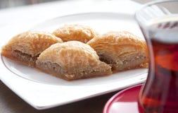 Läcker baklava med valnötter Royaltyfri Foto
