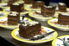 läcker cakechoklad royaltyfri foto
