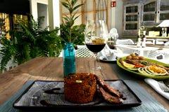 Läcker disk på en spansk restaurang Arkivbild