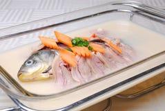 läcker fiskmat för porslin Royaltyfria Bilder