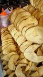 Läcker Fried Twist potatis royaltyfri fotografi