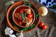 Läcker georgian mat på tabellen av restaurangen arkivfoton