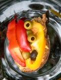 Läcker grönsaksmörgåsgroda royaltyfri bild