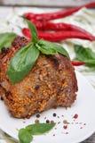 Läcker grillad meat Arkivbild