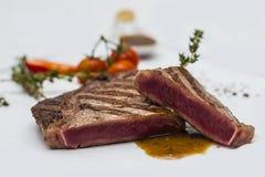 Läcker grisköttbiff Arkivfoton