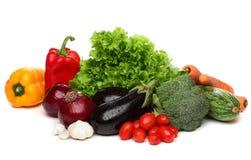 Läcker grupp av sunda grönsaker Arkivfoton