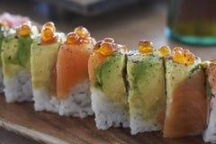 Läcker grupp av sushi arkivfoton