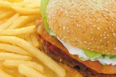 läcker hamburgare Arkivbild