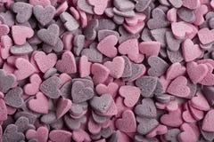 Läcker hjärta handgjorda formade kakor Arkivbild