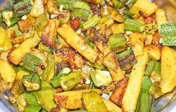 läcker indisk ladysfinger för curry Royaltyfri Fotografi