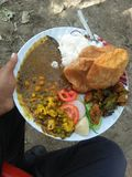 Läcker indisk lunch royaltyfri bild